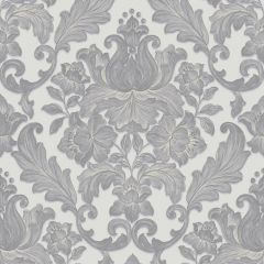 Luxury Metallic Damask Wallpaper Grey