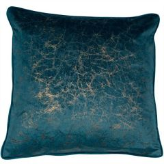 Malini Crackle Teal Cushion