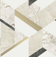 Marblesque Geometric Marble Inspired Wallpaper Natural
