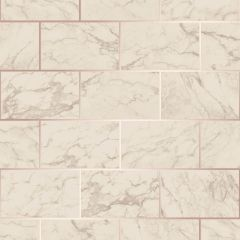 Metro Brick Marble Metallic Wallpaper-Rose Gold