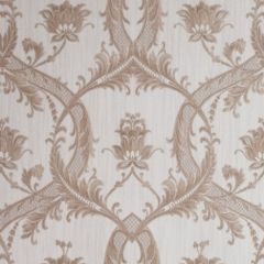 Milano Textured Glitter Damask Wallpaper Rose Gold