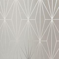 Kayla Metallic Geometric Wallpaper Fawn & Silver