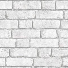 Bluff Embossed Brick Wallpaper White