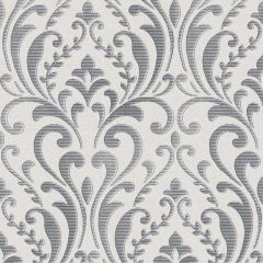 Regal Damask Wallpaper Silver & Grey