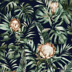 Nia Botanical Wallpaper Navy
