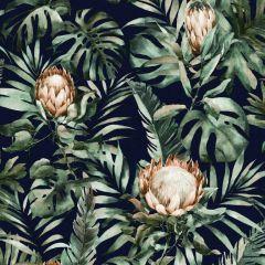 Nia Botanical Wallpaper - Navy