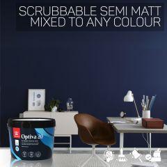 Tikkurila Optiva 20 Scrubbable Semi Matt for Walls & Ceilings - Colour Match