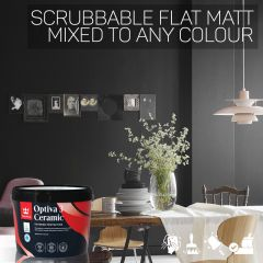 Tikkurila Optiva 3 Scrubbable Flat Matt for Walls & Ceilings - Colour Match