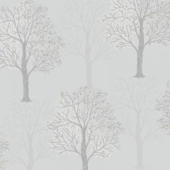 Opus Ornella Sequin Tree Wallpaper Light Slate
