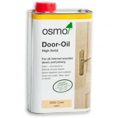 Osmo Door Oil (High Solid) - Clear Satin - 1L