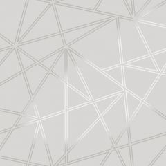 Palladium Geometric Metallic Wallpaper Silver