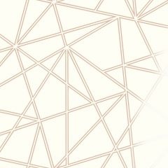 Palladium Geometric Metallic Wallpaper Rose Gold