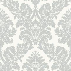 Glitter Damask Wallpaper Ivory