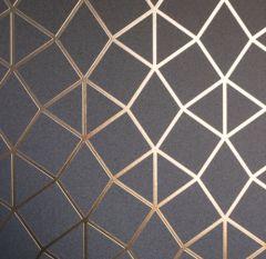 Platinum Geometric Metallic Wallpaper