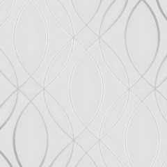 Pulse Ogee Wave Wallpaper Silver