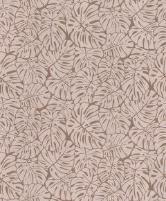 Metallic Palm Leaf Wallpaper Rose Gold