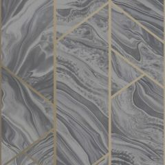 Geo Marble Glitter Wallpaper Charcoal