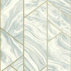 Geo Marble Glitter Wallpaper Duck Egg