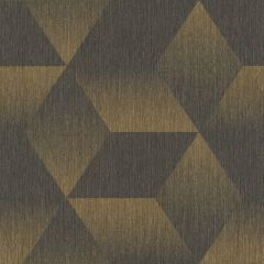 Aura 3D Effect Geometric Wallpaper Black/Gold