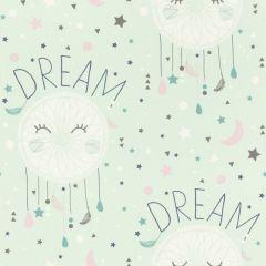 Rasch Bambino Dreamcatchers and Stars Wallpaper - Green