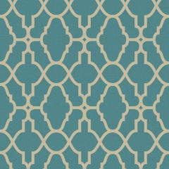 Casablanca Trellis Metallic Wallpaper Teal