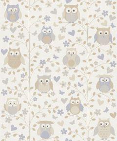Kids & Teens Owl Wallpaper Neutrals