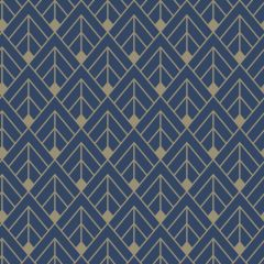 Glittery Geometric Diamond Wallpaper Blue