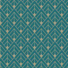 Glittery Geometric Diamond Wallpaper Teal