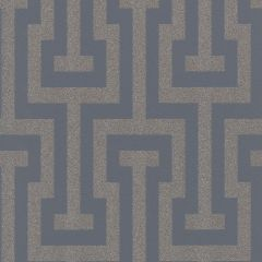 Geometric Glittering Greek Key Wallpaper Navy