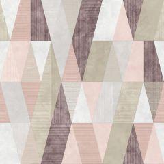 Vertex Geometric Metallic Wallpaper Pink/Purple