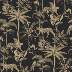 Savannah Leopard Palm Tree Wallpaper