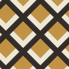 Retro Geometric Grid Wallpaper Mustard