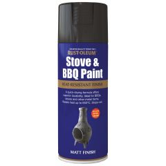 Rust-oleum Stove & BBQ Heat Resistant Finish 400ml Spray / Matt