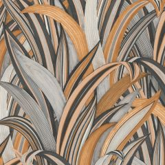 Sansevie Tropical Leaf Wallpaper Burnt Orange