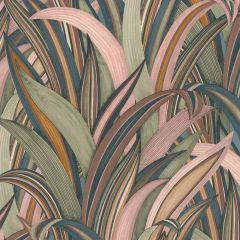 Sansevie Tropical Leaf Wallpaper Dusky Pink