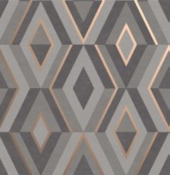 Shard Geometric Wallpaper Dark Grey
