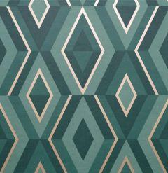 Shard Geometric Wallpaper Teal