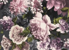 Secret Garden Wallpaper Pink & Black