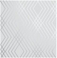 Shard Geo Trellis Wallpaper Grey & Silver