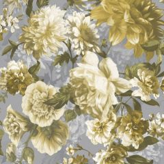 Secret Garden Wallpaper Yellow & Silver