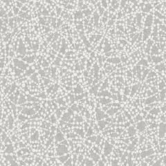 A swirl glitter wallpaper with circular swirls featured throughout a silver background.
