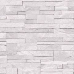 Stone Effect Wallpaper White