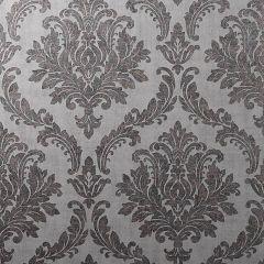 Tulsa Textured Damask Wallpaper Charcoal