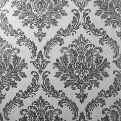 Tulsa Textured Damask Wallpaper White