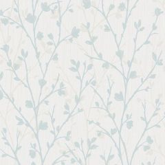 Twiggy Floral Wallpaper Duck Egg