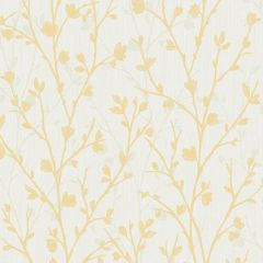 Twiggy Floral Wallpaper Mustard
