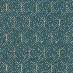Leaf Trellis Wallpaper Teal