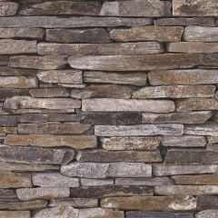 Wood and Slate Natural Slate Wallpaper