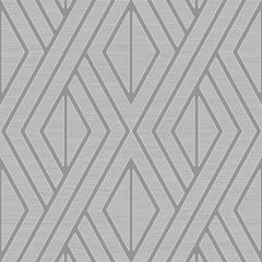 Metallic Geo Diamond Wallpaper Silver