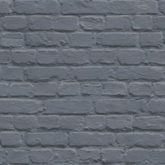 A dark blue brick wallpaper sample.